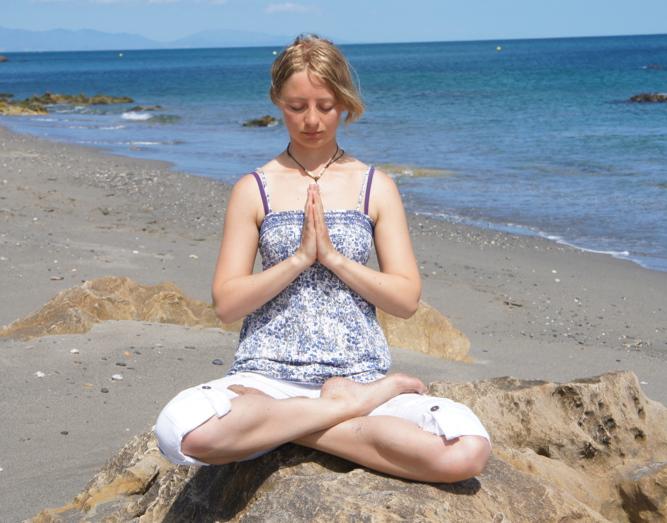 Yoga, Strand, Entdeckungsreise